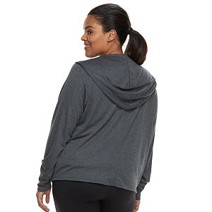 Plus Size Tek Gear® Hooded Long Sleeve Wrap
