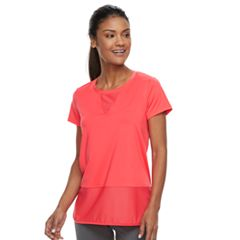 Women's Tek Gear® Mesh Panel Short Sleeve Tee