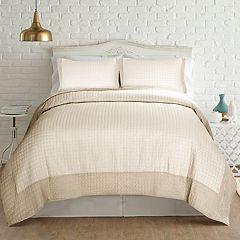 PCT Home collection Velvet Frame Quilt Set