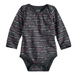 "Baby Girl Jumping Beans® ""Love You"" Bodysuit"