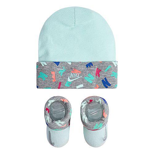 Baby Nike Hat   Booties Set 58e16a0a8e2