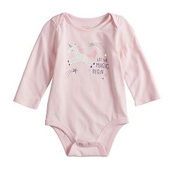 Baby Girl Jumping Beans® Glitter Graphic Bodysuit