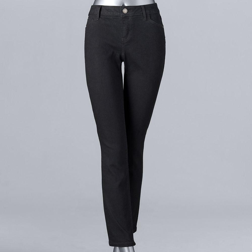 Petite Simply Vera Vera Wang Everyday Luxury Straight-Leg Midrise Jeans
