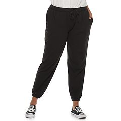 Juniors' Plus Size SO® Drawstring Jogger Sweatpants