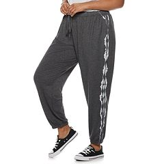 Juniors' Plus Size SO® Tie-Dye Jogger Sweatpants