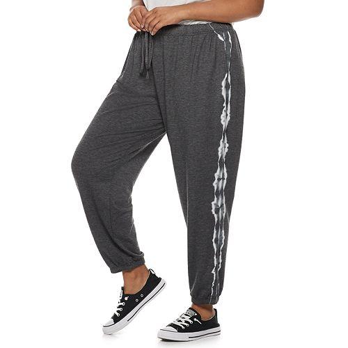 Juniors' Plus Size SO® Tie-Dye Jogger Sweatpants
