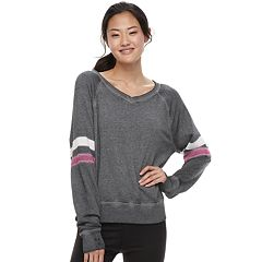 Juniors' SO® Varsity Striped Sweatshirt