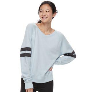 Juniors' SO® Varsity Striped Sweatshirt
