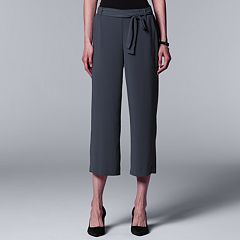 Women's Simply Vera Vera Wang Wide-Leg Capri Pants