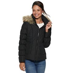 Juniors' Maralyn & Me Hooded Puffer Jacket