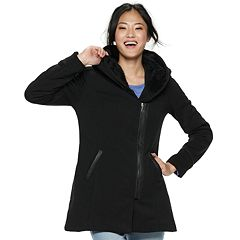 Juniors' Maralyn & Me Oversized-Hood Fleece Jacket