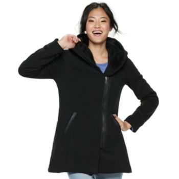 Juniors' Maralyn & Me Oversized-Hood Fleece Jacket