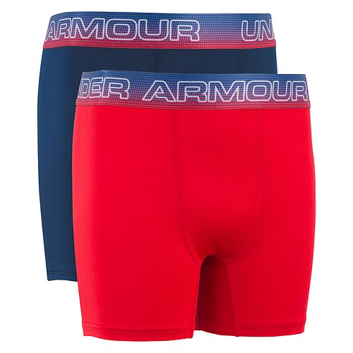 Boys 7-20 Under Armour Americana Performance 2-Pack Boxer Set