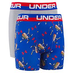 Boys 7-20 Under Armour Homerun Hotdog Performance 2-Pack Boxer Set