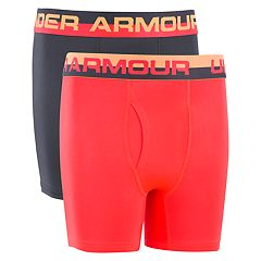 Boys 7-20 Under Armour Solid Performance 2-Pack Boxer Set