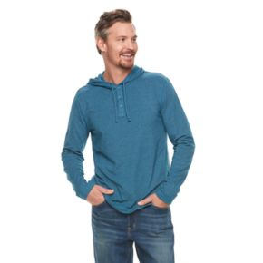 Men's SONOMA Goods for Life? Modern-Fit Supersoft Henley Hoodie