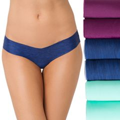 Juniors' SO® 6-Pack Smooth Thong Panties SI332210