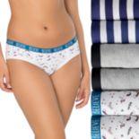 Juniors' SO® 6-Pack Sassy Hipster Panties SI392120