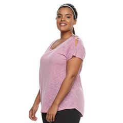 Plus Size Tek Gear® Cold-Shoulder Top