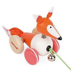 Janod Zigolos Pull Along  Fox