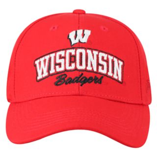 Adult Top of the World Wisconsin Badgers Advisor Adjustable Cap