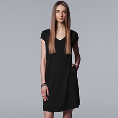 Women's Simply Vera Vera Wang Ribbed T-Shirt Dress