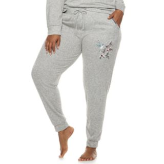 Plus Size Gloria Vanderbilt Embroidered Jogger Pajama Pants