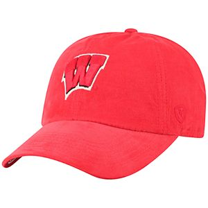 Men's Top of the World Wisconsin Badgers Artifact Corduroy Adjustable Cap