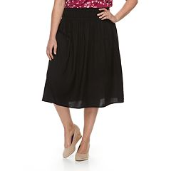 Plus Size Croft & Barrow® Smocked Challis Skirt