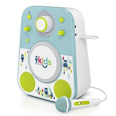 The Singing Machine Kids Mood Blue Green LED Bluetooth Karaoke System