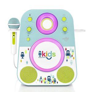 The Singing Machine Kids Mood Blue Green LED Bluetooth Karaoke System