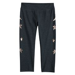 Girls 7-16 SO® Sparkling Star Capri Leggings