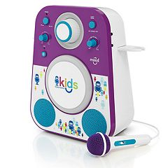 The Singing Machine Kids Mood Purple Blue LED Bluetooth Karaoke System