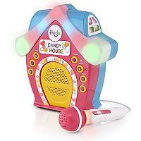 The Singing Machine Candy House Portable Bluetooth LED Karaoke System