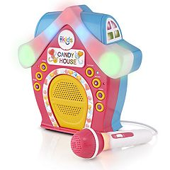 The Singing Machine Candy House Portable Bluetooth LED Karaoke System