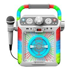 The Singing Machine White Groove Cube Bluetooth Karaoke System