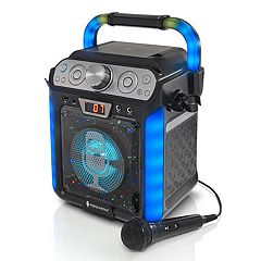 The Singing Machine Black Groove Cube Bluetooth Karaoke System