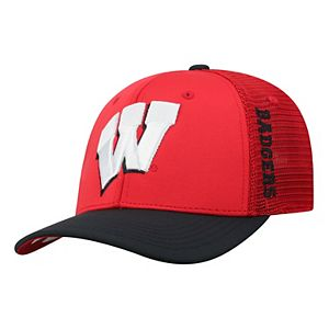 Adult Top of the World Wisconsin Badgers Chatter Memory-Fit Cap