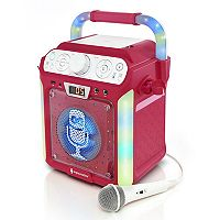 The Singing Machine Pink Groove Cube Bluetooth Karaoke System