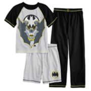 Boys 4-20 Batman 3-Piece Pajama Set
