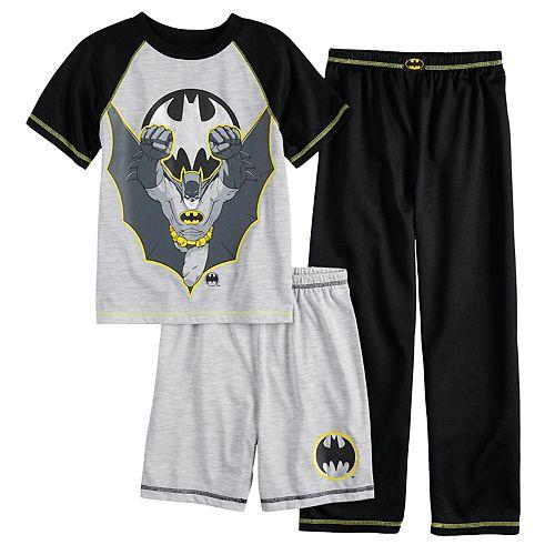 Boys 4-20 Batman 3-Piece Pajama Set
