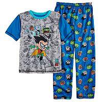 Boys 4-20 Teen Titans 2-Piece Pajama Set