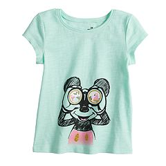 Disney's Mickey Mouse Toddler Girl Glittery Graphic Tee by Jumping Beans®