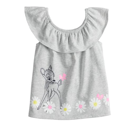 Disney S Bambi Toddler Girl Graphic Ruffled Tank Top By Jumping Beans
