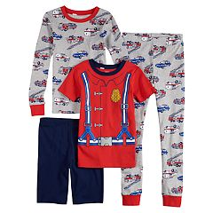 Boys 4-12 Carter's Firetruck 4-Piece Pajama Set