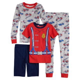 Boys 4-12 Carter's Firetruck 4-Piece Pajama Set