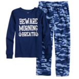 "Boys 4-14 Carter's ""Beware of Morning Breath"" 2-Piece Pajama Set"