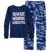 "Boys 4-14 Carter's ""Beware of Morning Breath"" 2-Piece Pajama Set"