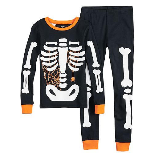 21c2f343a829 Boys 4-14 Carter s Skeleton 4-Piece Pajama Set
