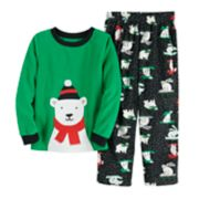 Boys 4-8 Carter's Polar Bear Fleece 2-Piece Pajama Set